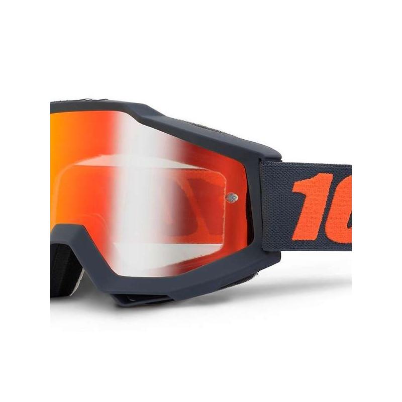 lunettes masque 100 accuri gunmetal ecran miroir rouge. Black Bedroom Furniture Sets. Home Design Ideas