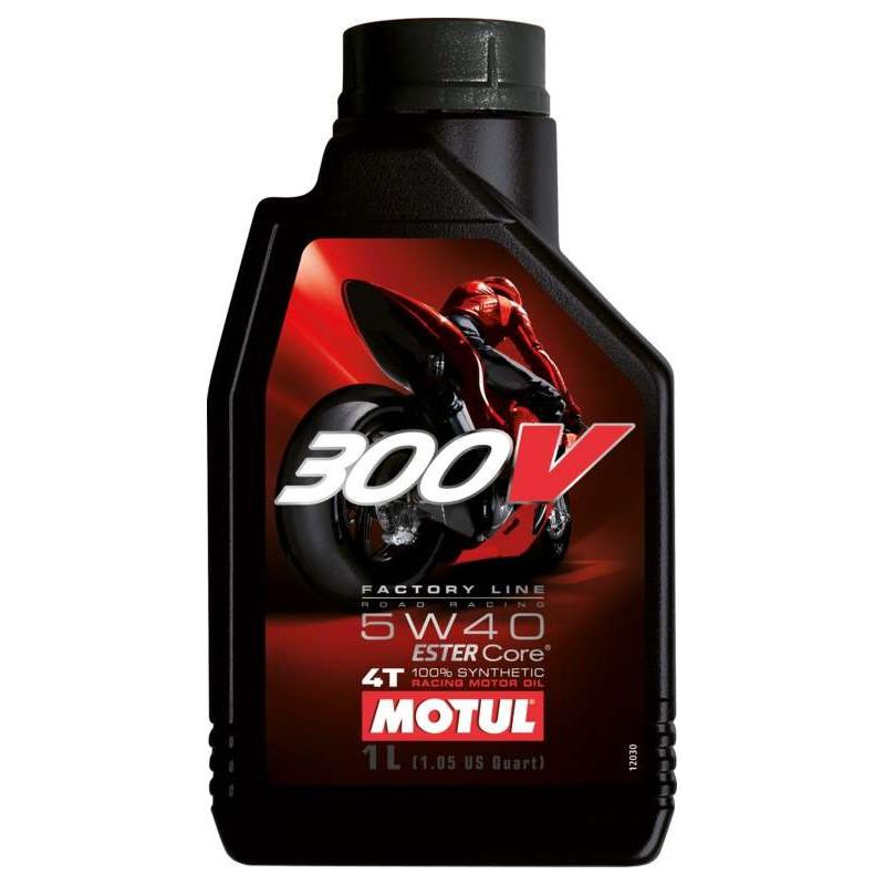 HUILE MOTEUR MOTUL 300V FACTORY LINE OFF ROAD 5W40 4T 100% SYNTHETIC 1 L